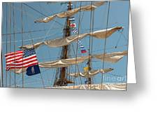 Mast Flags Greeting Card
