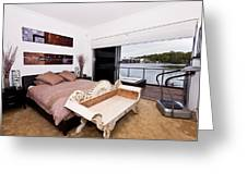 Master Bedroom With A View Greeting Card