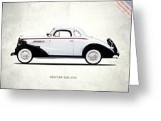 Master Deluxe Sport 1937 Greeting Card