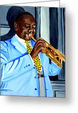 Master Of Jazz Greeting Card