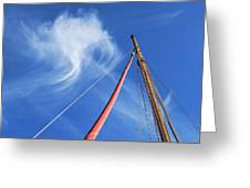 Masts And Clouds Greeting Card
