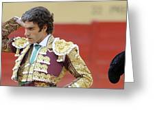 Matador Jose Tomas IIi Greeting Card
