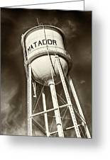 Matador Texas Water Tower Greeting Card