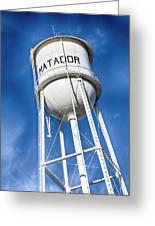 Matador Water Tower Greeting Card