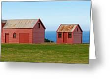 Matanaka Historic Site - Red Barn Greeting Card