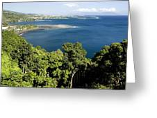 Matavai Bay, Site Of Anchorage Greeting Card