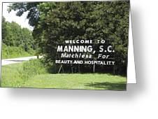 Matchless Manning Greeting Card