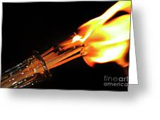 Matchstick Inferno 2 Greeting Card