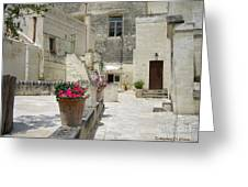 Matera With Flowers Greeting Card