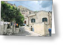 Matera's Colorful Laundry Greeting Card