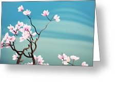 Math Magnolia Greeting Card