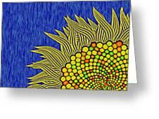 Math Sunflower1 Greeting Card by GuoJun Pan