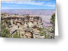 Mather Point At The Grand Canyon Greeting Card by Julie Niemela