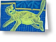 Matisse's Cat In Reverse Greeting Card