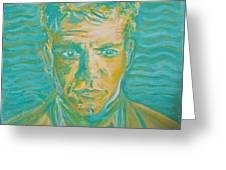 Matt Damon Greeting Card