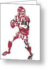 Matt Ryan Atlanta Falcons Pixel Art 5 Greeting Card