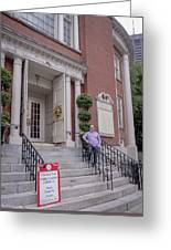 Matt V. Group At The Park Street Church In Boston, Massachusetts On August 26, 2016 Greeting Card