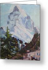 Matterhorn At 8 Pm Greeting Card