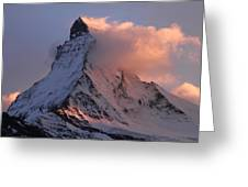 Matterhorn At Dusk Greeting Card by Jetson Nguyen