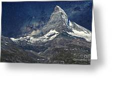 Matterhorn In Starry Night Greeting Card