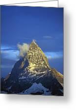 Matterhorn Mountain At Sunrise, Close Up Greeting Card