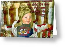 Matthew 18 5 Greeting Card