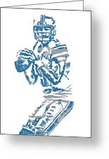 Matthew Stafford Detroit Lions Pixel Art 6 Greeting Card
