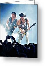 Matthias Jabs And Rudolf Schenker Shredding Greeting Card