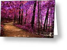 Matthiessen State Park Trail False Color Infrared No 2 Greeting Card
