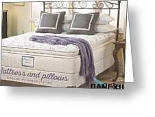 Mattress And Pillows Greeting Card