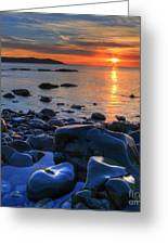 Maughold Beach Greeting Card