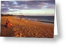 Maui Beach In Evening Greeting Card
