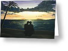 Maui Beach Sunset Greeting Card