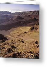 Maui, Haleakala Crater Greeting Card