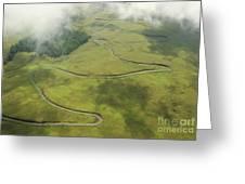 Maui Haleakala Crater Greeting Card
