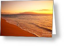 Maui, Hazy Orange Sunset Greeting Card