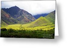 Maui Mountains Greeting Card