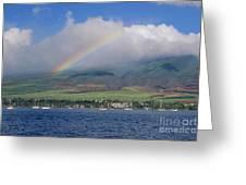 Maui Rainbow Greeting Card