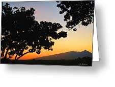 Maui Road Sunset Greeting Card