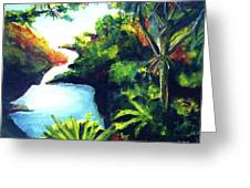 Maui Seven Sacred Falls #184 Greeting Card