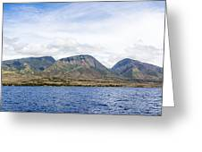 Maui - View From The Boat Greeting Card