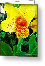 Maui Yellow Floral Greeting Card