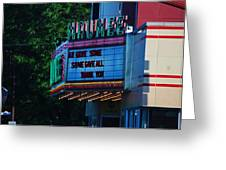 Maumee Movie Theater I Greeting Card