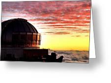 Mauna Kea Observatory Hawaii Greeting Card
