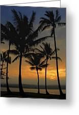Mauna Loa Sunset - Big Island Hawaii Greeting Card