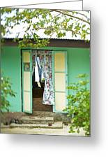 Maupiti Doorway Greeting Card