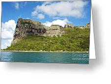 Maupiti Island Cliff Greeting Card