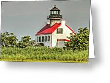 Maurice River, New Jersey, East Pointe  Lighthouse Greeting Card