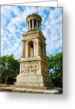 Mausoleum Of The Julii - Glanum Roman Ruins Greeting Card