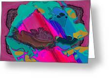 Mauve Abstract Greeting Card